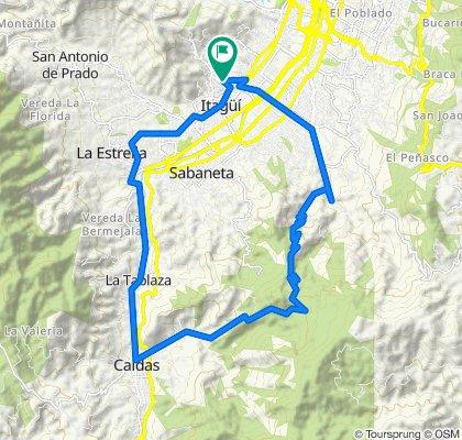 Ruta constante en Itagüi