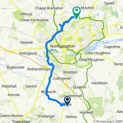 2 Ashton Road, Northampton to 3 Deer Park Road, Northampton