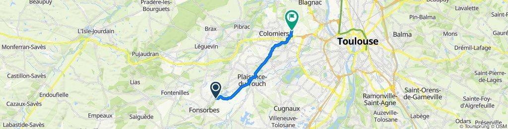 1 Impasse Nungesser et Coli, Fonsorbes to Chemin de la Rivière, Colomiers