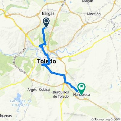 Camino de Carretillas, 1P, Bargas to Calle de la Mora, 2–18, Nambroca