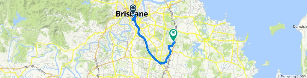 Carindale to CBD - safe long route