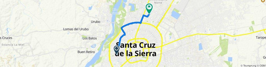 Ruta constante en Santa Cruz de la Sierra