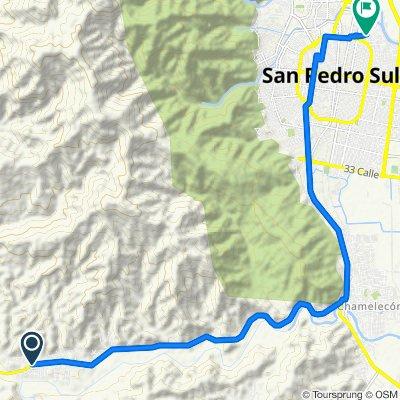 Ruta rápida en San Pedro Sula
