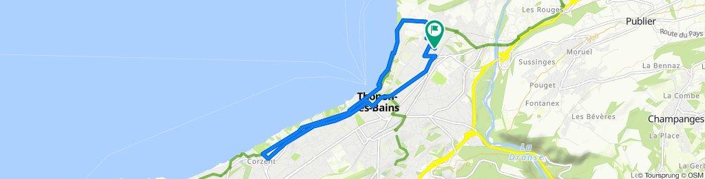 Itinéraire reposant en Thonon-les-Bains