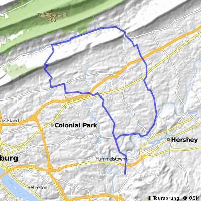 Hershey heights to Blue mountain parkway