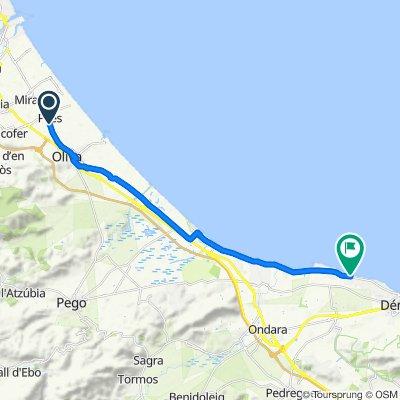 Itinéraire reposant en Dénia