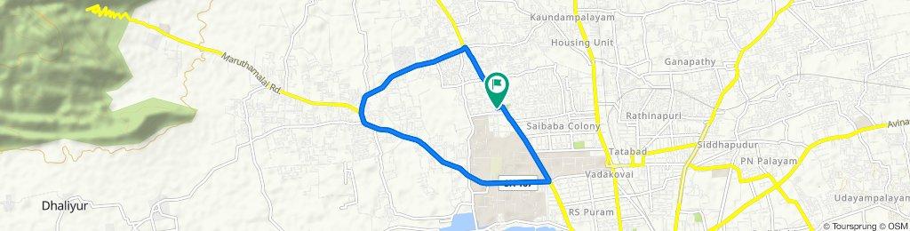 1589, SH 164, Coimbatore to 1589, SH 164, Coimbatore