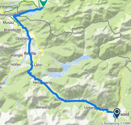 Ehrwald - Neuschwanstein - 37 km