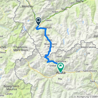 Martigny to Aosta last day