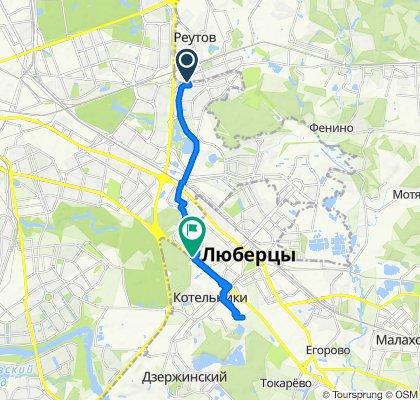 Зимние мокрые велоездки в Котельники (забор)