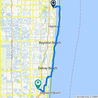 Moderate route in Boca Raton