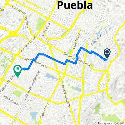De Calle 35 Oriente 101A, Heroica Puebla de Zaragoza a 2a. de B. Juárez 6541, Heroica Puebla de Zaragoza