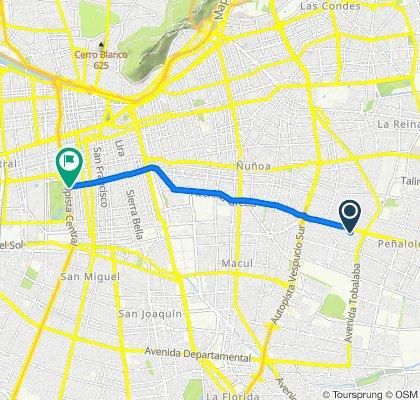 Paseo lento en Santiago