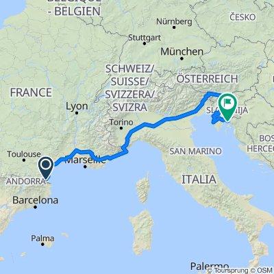 Bages to Rijeka