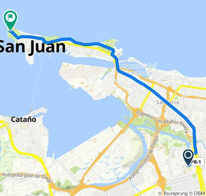 145–185 Avenida Carlos Chardón, San Juan to Fort San Felipe del Morro, San Juan