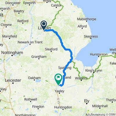 Day 6 Lincoln to Peterborough #PelotonToWimbledon
