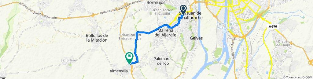 Ruta tranquila en Almensilla