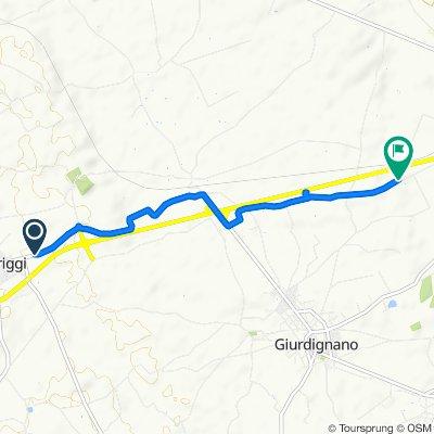 Giro a velocità costante in Palmariggi