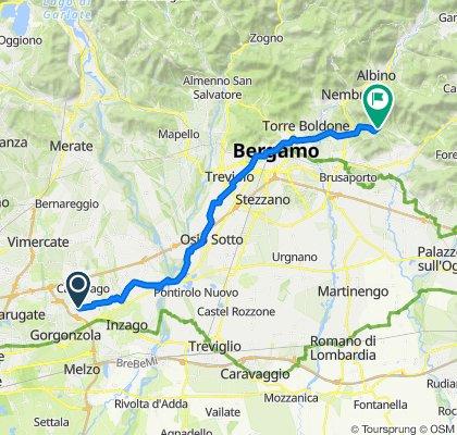 Via Italia 24, Gessate to Via Piazze 4, Cenate Sopra