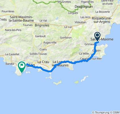 Chemin des Horizons, Grimaud to Chemin Les Pinèdes, La Seyne-sur-Mer