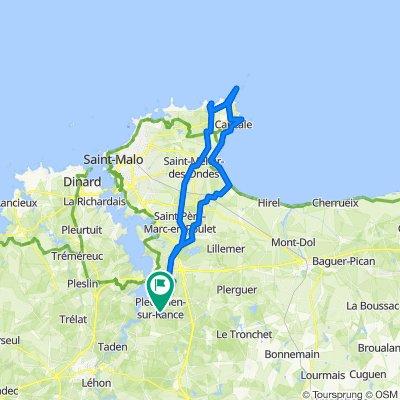 Itinéraire modéré en Pleudihen-sur-Rance