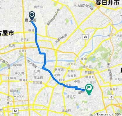 Toyoba Hayashizaki, Toyoyama-Cho, Nishikasugai-Gun to 6-9, Kyomei 2-Chōme, Chikusa-Ku, Nagoya-Shi