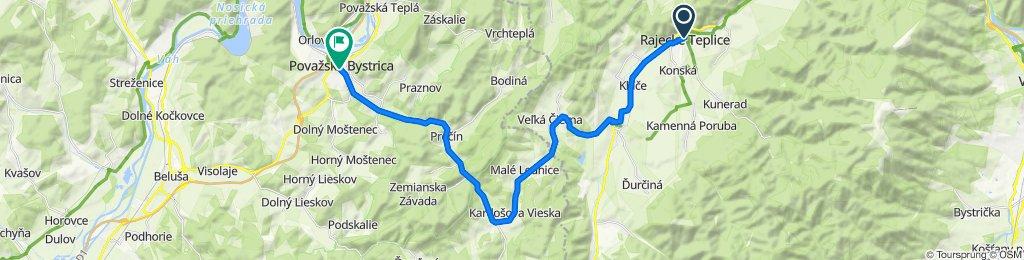 Rajecké Teplice - Rajec - Domaniža - Prečín - Považská Bystrica