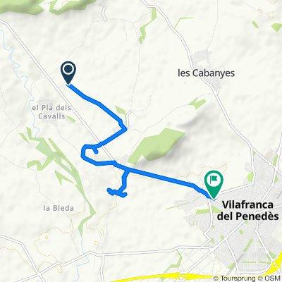 Steady ride in Pacs del Penedès