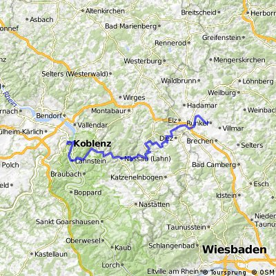 Koblenz -Runkel 1.Tag