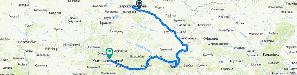 Старокостянтинів-Новокостянтинів-Летичів-Меджибіж-Хмельницький