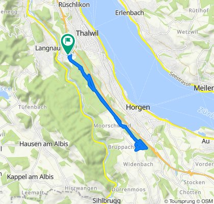 Gemütliche Route in Gattikon - Horgen
