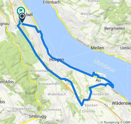 Relaxed route in Thalwil