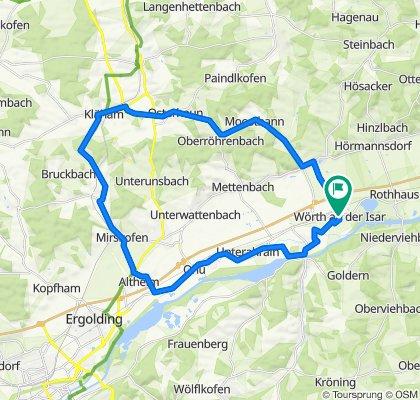 Wörth-Moosthann-Martinshaun-Kläham-Artlkofen-Mirskofen-Altheim-Ahrain-Niederaichbach-Wörth