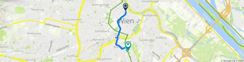 High-speed route in Vienna