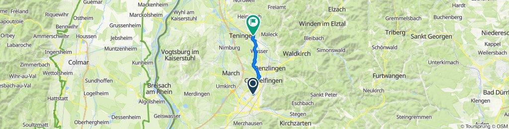 Engesserstraße, Freiburg im Breisgau to Lerchenweg 8, Emmendingen