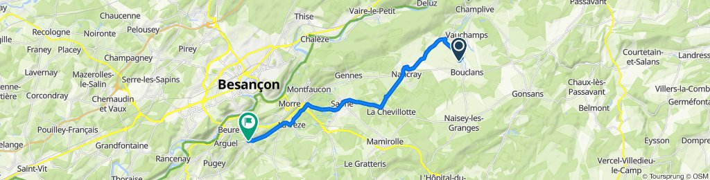 Route to 4–6 Route du Fort, Fontain