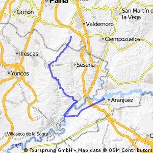 Valdemoro-Esquívias-Borox-Aranjuez (Cruzando el Río Pecos con la balsa)