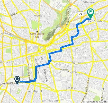 Avenida Alcalde Carlos Valdovinos 2763–3003, Pedro Aguirre Cerda to Boulevard Nueva Las Condes, Las Condes