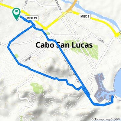 Calle Rosaura Zapata Cano, Los Cabos to Calle Fidel Velázquez 15, Los Cabos