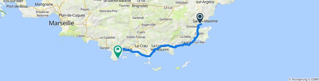 Route stable en Grimaud