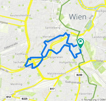 Supersonic route in Vienna