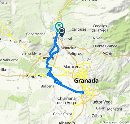 De Calle Gardenia 12, El Chaparral a Carretera Bailén-Motril, Albolote
