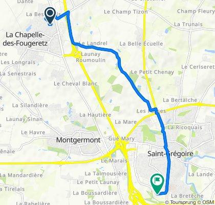 1 Allée de la Hamonière, La Chapelle-des-Fougeretz to 7 Boulevard de la Boutière, Saint-Grégoire