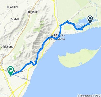 ruta alcanar per la Montanya