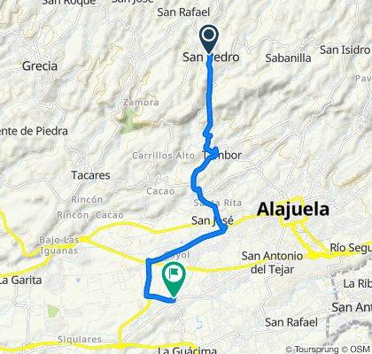 De Calle 2, San Pedro de Poás a 124, Alajuela