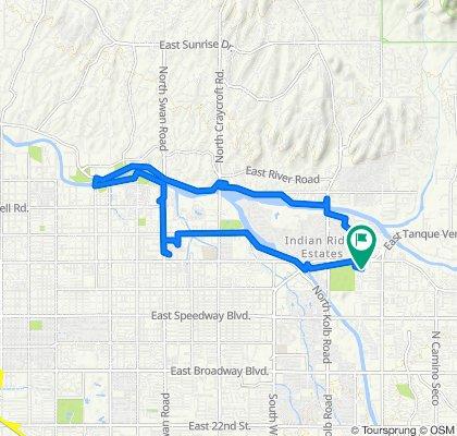 7603–7613 E Tanque Verde Rd, Tucson to 7602 E Edison St, Tucson