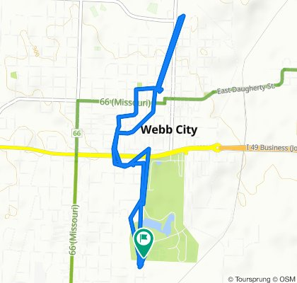 Rode to Webb City Post Office then back to car @ Trailhead!!!