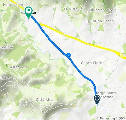 Piazzale Enrico Tiraboschi, Bergamo to Via Pietro Ruggeri da Stabello 92E, Bergamo