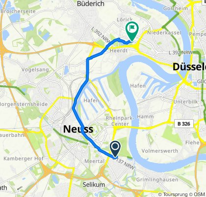 Dunantstraße 40, Neuss to Ferdinand-Braun-Platz, Düsseldorf