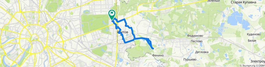 Весенние мокрые велоездки Салтыковка-Реутов 02 03 2020